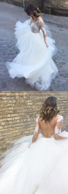 Ball Gown Wedding Dresses,wedding dresses 2018,lace wedding dresses,wedding dresses Long Sleeves,wedding dresses Floor-length,wedding dresses Appliques,wedding dresses Ivory,wedding dresses Tulle,big Bridal Gown #annapromdress #weddingdress #wedding #bridalgown #BridalGowns #cheapweddingdress #fashion #style #dance #bridal