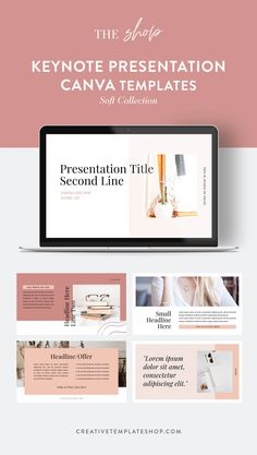 Become better prepared for your webinars with this Keynote presentation template in our soft collection. It's easily customizable in Canva so you can start rocking your marketing game immediately. Business Presentation, Presentation Templates, Creative Jobs, Creativity Quotes, Freelance Graphic Design, Keynote Template, Personal Branding, Business Design, Online Marketing