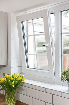 New windows with double glazing will make your home warm, quiet and extra secure. Everest is number one for truly exceptional double glazed windows. Upvc Windows, Windows And Doors, Aluminum Screen Doors, Aluminium Windows, Tilt And Turn Windows, Minimalist Window, Egress Window, Window Glazing, Farmhouse Architecture