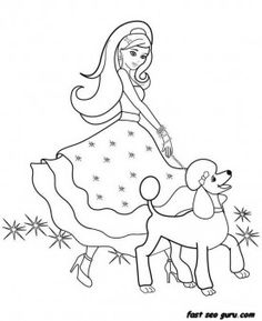 Cute modern Barbie coloring pages Family For the Bugs