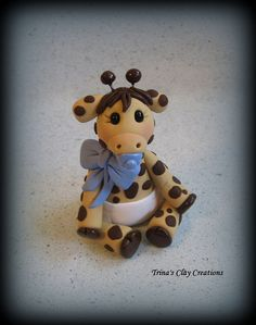 Hey, I found this really awesome Etsy listing at https://www.etsy.com/listing/170151192/giraffe-baby-shower-cake-topper-polymer