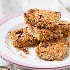 A tasty snack as part of Davina's '5 weeks to sugar-free' meal plan, these flapjacks are a healthy and delicious sweet. Find the full recipe at www.redonline.co.uk