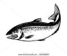 Salmon - Retro Clipart Illustration by RetroClipArt, via ShutterStock