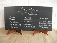 One Large Frameless Rustic Chalkboard With Easels For Wedding Signs Photo Props…