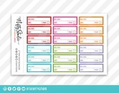 Planner Stickers Bil
