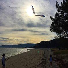 #playadelourido #viento #cometas #niños #kids #instantes_fotograficos #galiciavisual #foto_galicia #todoes_galicia #todoclick #barbaraomil #pontevedra