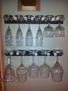 Home made wine rack