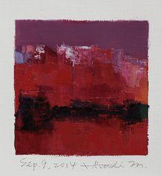 Sep. 9, 2014 abstract oil painting by Hiroshi Matsumoto