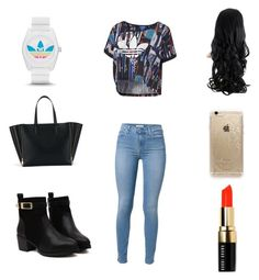 """Casual day"" by liv10liv ❤ liked on Polyvore featuring 7 For All Mankind, adidas, Rifle Paper Co and Bobbi Brown Cosmetics"