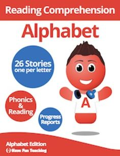 Have+Fun+Teaching+is+very+proud+to+release+the+Alphabet+Reading+Comprehension+Bundle!+This+collection+includes+Reading+Comprehension+Stories+that+showcase+all+the+letters+of+the+Alphabet.*A+-+The+Ant+and+the+Apple*B+-+The+Birds*C+-+Cals+Cat*D+-+Dan+and+the+Dog*E+-+Eric+Eats+Eggs*F+-+Frank+the+Frog*G+-+Gabby+the+Goat*H+-+Hals+Hats*I+-+The+Igloo*J+-+J-Day*K+-+Kim+and+her+Kite*L+-+The+Lazy+Lion*M+-+My+Mom*N+-+Numu*O+-+Otis+the+Ox*P+-+The+Painter*Q+-+Hungry+and+Thirsty*R+-+Racing+Raccoon*S+-+Sar...