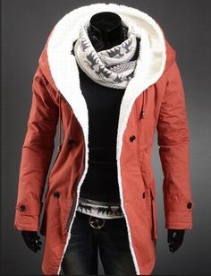 Warm Parka Overcoat for Men Winter Fashion