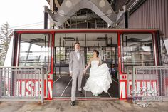 fabulous vancouver wedding Arriving at Top of Vancouver. Photo by Patrick @amarawedding Venue @grousemountain #bride #groom #brideandgroom #vancouver #gondola by @amarawedding  #vancouverwedding #vancouverwedding