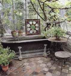 Someday I will have a clawfoot tub in my greenhouse...and only use epsom salts so i can use recycle the bathwater on the plants...