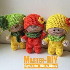 Связать игрушку крючком Пупсики Йо-йо. Описание вязания игрушки амигуруми.
