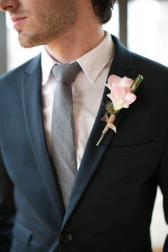 blush boutonniere // photo by Christy Tyler