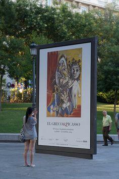 """Cartel de la Exposición """"El Greco y la Pintura Moderna"""" en el Museo del Prado. Madrid #Cartel #Affiche #Arterecord 2014 https://twitter.com/arterecord"""
