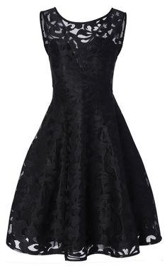 Sheer Lace Plus Size Vintage Dress