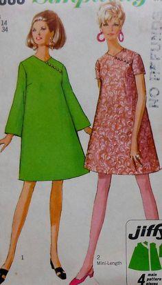 Vintage Collarless Dress Sewing Pattern