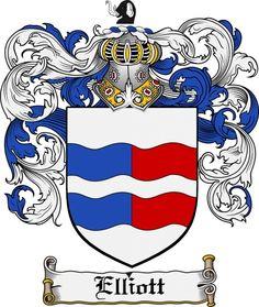 Irish Elliott's family crest / coat of arms from www.4crests.com