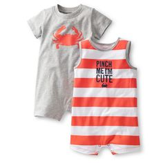 "Carters Boys 9 Months 2-Piece ""Pinch Me I'm Cute"" Romper Set NWT  #Carters #Everyday"