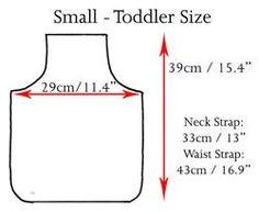 Sizing Chart, Toddler, Child, Adult, Apron and Clothing Sizes | Ariella Australia
