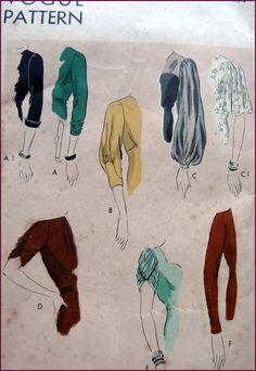 Vintage Sewing Patterns NewVintageLady: The Vintage Pattern Primer: Collecting Accessory Patterns. Retro Mode, Vintage Mode, Fashion Design Drawings, Fashion Sketches, Vintage Patterns, Vintage Outfits, Vintage Fashion, Look Retro, Fashion Vocabulary