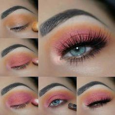 Eye Makeup Eye Makeup Glitter, Blue Eye Makeup, Eye Makeup Tips, Makeup Ideas, Makeup Tutorials, Makeup Tricks, 80s Makeup Tutorial, Easy Makeup, Makeup Bags