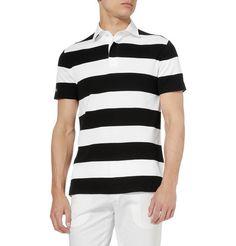 Ralph Lauren Black Label Striped Cotton Polo Shirt