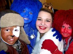 Dorothy and Toto!  The colors are the storytellers from ArtReach's School Play WIZARD OF OZ.