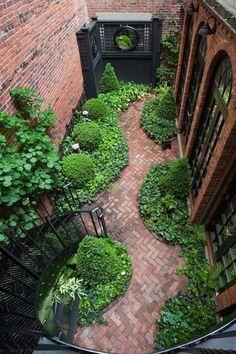 . Could be a lovely side yard. Hidden Gardens via Beacon Hill Garden Club
