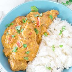 vegan butter chicken and rice | yumsome.com