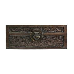 Chinese antiques furniture, decor and gift. Box With Lid, Wood Boxes, Storage Boxes, Vintage Antiques, Vintage Fashion, Dragon, Chinese, Carving, Furniture