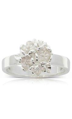 Karen Walker Flower Ball ring - sterling silver