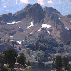 Edgar Alwin Payne (1883-1947). Sierra Landscape. Oil on canvas, 29 1/4 x 29 1/4 inches