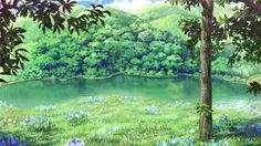 Fantasy Background, Forest Background, Art Background, Anime Scenery Wallpaper, Wallpaper Pictures, Fantasy Landscape, Landscape Art, Casa Anime, Anime Places