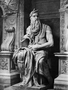 "italianways: ""Michelangelo's ""Moses"", San Pietro in Vincoli, Rome, Italy. Michelangelo Sculpture, Roman Sculpture, Statue Tattoo, Statues, Roman Art, Greek Art, Renaissance Art, Italian Renaissance, Art Abstrait"