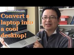 HACKED! Convert damaged laptop to a compact desktop computer - Built a desktop from a damaged Laptop - YouTube