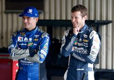 Kasey Kahne Photos Photos - Jeff Gordon (L), driver of the #88 Nationwide Chevrolet, and Kasey Kahne, driver of the #5 Panasonic Chevrolet, stand in the garage area during practice for the NASCAR Sprint Cup Series Citizen Solider 400 at Dover International Speedway on September 30, 2016 in Dover, Delaware. - Dover International Speedway - Day 1