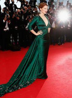 "Léa Seydoux wears Prada at ""Saint Laurent"" movie premiere during the 67th Annual Cannes Film Festival"