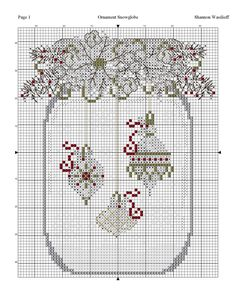 Cross Stitch Christmas Ornaments, Xmas Cross Stitch, Cross Stitch Love, Cross Stitch Cards, Christmas Cross, Cross Stitch Designs, Cross Stitching, Cross Stitch Embroidery, Cross Stitch Patterns
