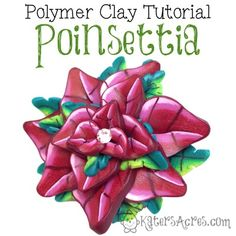 Caned Poinsettia Flower Tutorial Worksheet Series Guide by KatersAcres Poinsettia Flower, Polymer Clay Flowers, Clay Tutorials, Flower Tutorial, Worksheets, Literacy Centers
