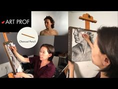 Art Prof, Part 18 of Charcoal Drawing Demo. Art Prof is a free, online educational platform for visual arts created for people of all ages and means. Created by RISD Adjunct Professor Clara Lieu and Thomas Lerra. Charcoal Drawing, Visual Arts, Art Techniques, Art Tutorials, Professor, Platform, Education, Drawings, People