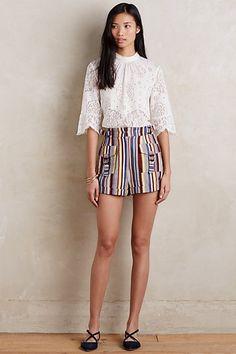 Striped Linen Shorts by Zimmermann #anthropologie $200