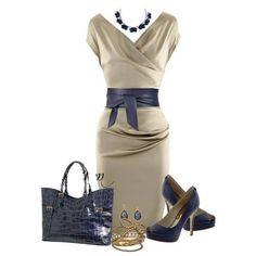 Love the figure flattering dress