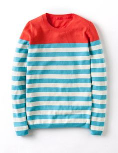 I've spotted this @BodenClothing - Brigitte Sweater Aqua/Ivory Stripe