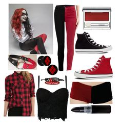 so I'm not the only one who wears red and black chucks together to be Harley huh? those jeans are awesome too though!
