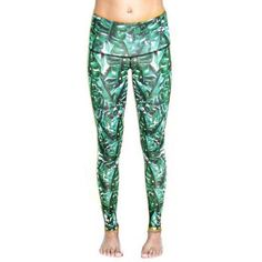 These chic stretchy yoga pants are made with an innovative material that recycles plastic PET bottles and helps to curb plastic waste. Green Queen, High Waisted Briefs, Green Banana, Small Waist, Moon Child, Workout Leggings, Yoga Pants, Active Wear, Nature