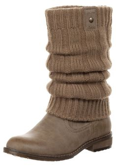 I could totally knit this and use it on a number of different boots... pooh knit different ones, different patterns and use one or two boots, instead of buying several pair of boots!