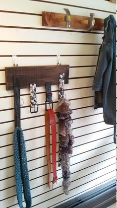 Mother's Day, Father's Day Gift!! Recycled Belt, Scarf, Tie Rack. Repurposed Belts Clothing Hanger. Bedroom, Home Decor. Free Shipping!! by TheRustyBucketVT on Etsy