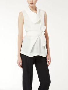 Max Mara MARCO white: Linen top.